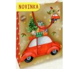 Nekupto Dárková papírová taška malá 14 x 11 x 6,5 cm Vánoční 1796 30 WBS