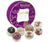 Bomb Cosmetics Vánoční svátky mix vánočních máslových koupelových kuliček 7 x 30 g, kosmetická sada v plechové dóze