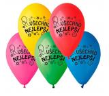"""Balónky """"Všechno nejlepší"""", 26 cm, 100 kusů v balení, mix barev"""