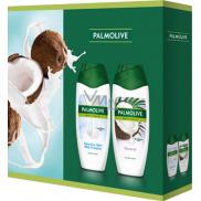 Palmolive Naturals Milk Proteins sprchový gel 250 ml + Coconut sprchový gel 250 ml, kosmetická sada