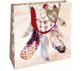 Nekupto Dárková papírová taška luxusní 23 x 23 x 10 cm Lapač snů 2034 M - LIM