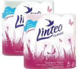 Linteo Classic toaletní papír růžový 2 vrstvý, 150 útržků, 15 m, 4 kusy