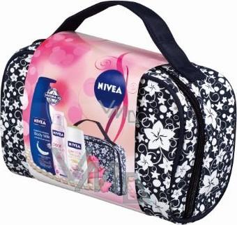 Nivea Kazpearl tělové mléko 400 ml + sprchový gel 250 ml + antiperspirant 150 ml + taška,pro ženy kosmetická sada