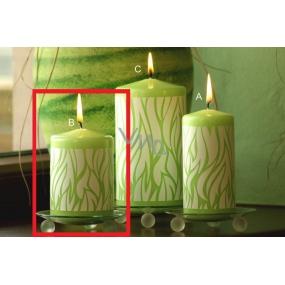 Lima Savana svíčka zelená válec 70 x 100 mm 1 kus
