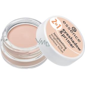 Essence Eyeshadow & Primer podklad & oční stíny 2v1 01 Nude Beige 5 g