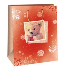 Ditipo Dárková papírová taška medvídek 32,4 x 10,2 x 44,5 cm DXA 2291914