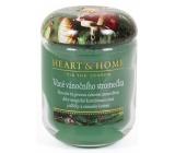 Heart & Home Vůně vánočního stromečku Sojová vonná svíčka velká hoří až 70 hodin 310 g