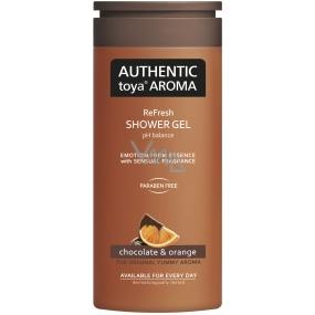 Authentic Toya Aroma Chocolate & Orange aromatický sprchový gel 400 ml