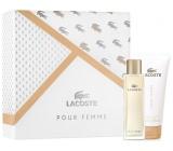 Lacoste pour Femme parfémovaná voda 50 ml + tělové mléko 100 ml, dárková sada