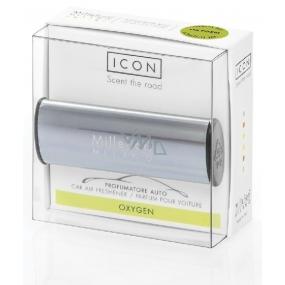 Millefiori Icon Oxygen - Kyslík Vůně do auta Metallo modrá lesklá voní až 2 měsíce 47 g