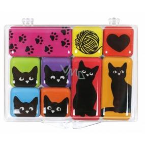 Albi Sada epoxy magnetů Kočky 9 kusů 9,2 cm x 6,6 cm x 1 cm