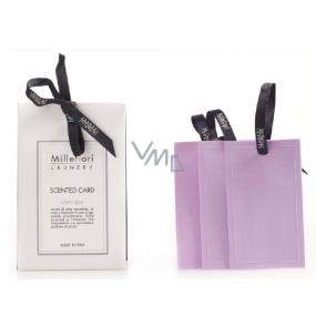 Millefiori Milano Lavanda - Levandule Laundry Vonná karta 3 kusy