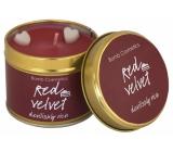 Bomb Cosmetics Red Velvet Vonná přírodní, ručně vyrobena svíčka v plechové dóze hoří až 35 hodin