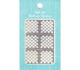 Nail Accessory Hollow Sticker šablonky na nehty multibarevné kapky 1 aršík 129
