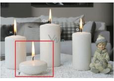 Lima Ice pastel svíčka bílá plovoucí čočka 70 x 30 mm 1 kus