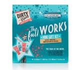 Dirty Works The Full Works pěna do koupele 100 ml + sprchový gel 100 ml + tělový peeling 50 ml + tělové mléko 50 ml, kosmetická sada