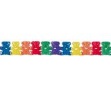 Girlanda Medvídci barevná 400 x 19 cm