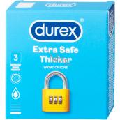 Durex Extra Safe Thicker latexový kondom, silnější, nominální šířka: 56 mm 3 kusy