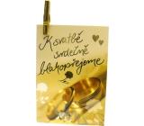 Nekupto Dárková kartička K svatbě srdečně blahopřejeme 7 x 5,5 cm 1 kus, K29 008