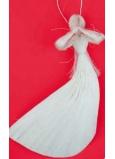 Andílek letící závěs 21 cm abaca 1 kus