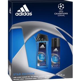 Adidas Champions League deodorant sprej 150 ml + sprchový gel 250 ml, pro muže kosmetická sada