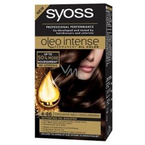 Syoss Oleo Intense Color barva na vlasy bez amoniaku 4-86 Čokoládově hnědý