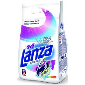 Lanza Vanish Ultra 2v1 Bílá prací prášek s odstraňovačem skvrn na bílé prádlo 45 dávek 3,375 g