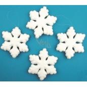 Vločky sněhové velké 4 kusy 12 cm