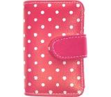 Albi Designová manikúra Růžová s bílými puntíky 6 dílná