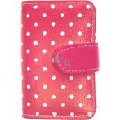 Albi Designová manikúra Růžová s puntíky 6 dílná