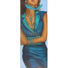 Nekupto Dárková papírová taška na láhev 35 x 12 x 9 cm mat aplikace žena 1441 LBLH