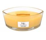 WoodWick Seaside Mimosa - Mimóza na pobřeží vonná svíčka s dřevěným širokým knotem a víčkem sklo loď 453 g