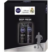 Nivea Men Deep antiperspirant sprej 150 ml + Men Deep sprchový gel 250 ml, kosmetická sada
