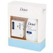 Dove Deeply Nourishing vyživující krémový sprchový gel 250 ml + toaletní mýdlo 100 g, kosmetická sada