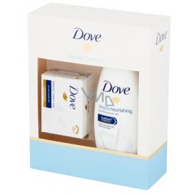 Dove Nourishing Deeply vyživující krémový sprchový gel 250 ml + toaletní mýdlo 100 g, kosmetická sada