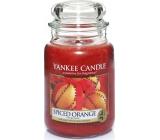 Yankee Candle Spiced Orange - Pomeranč se špetkou koření vonná svíčka Classic velká sklo 623 g