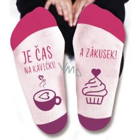 Nekupto Rodinné dárky s humorem Ponožky Je čas na kávičku, velikost 39-42