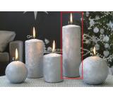Lima Ledová stříbrná svíčka válec 70 x 200 mm 1 kus