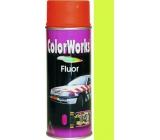 Color Works Fluor 918542 fosforově žlutá nitrocelulózový lak 400 ml