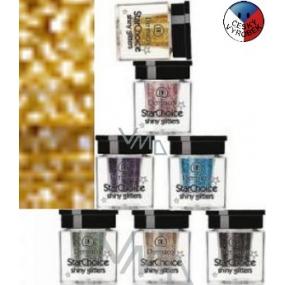 Dermacol Star Choice Shiny Glitters Třpytky na oči 02 zlatá 2 g