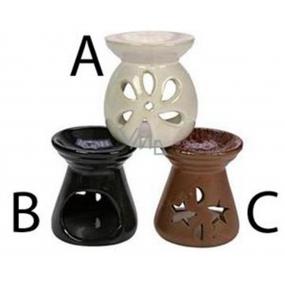 Aromalampa Interierová keramická aromalampa 3 provedení Vyška 8 cm