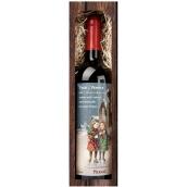 Bohemia Gifts & Cosmetics Merlot Veselé Vánoce 750 ml, dárkové vánoční červené víno
