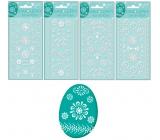 Samolepky velikonoční gelové bílé 19 x 9 cm