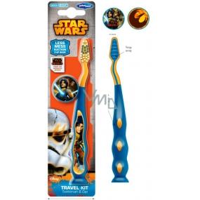 Disney Star Wars měkký zubní kartáček pro děti s cestovní krytkou a přísavkou