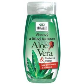 Bione Cosmetics Bio Aloe Vera & Panthenol vlasový šampon 250 ml