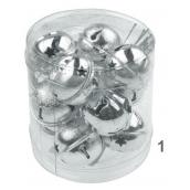 Rolničky stříbrné v krabičce 3 cm 12 kusů