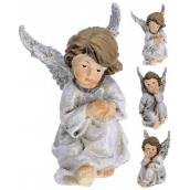Anděl keramický křídla glitr mix 100 mm