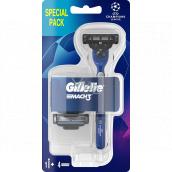 Gillette Mach3 holicí strojek pro muže + náhradní hlavice 4 kusy