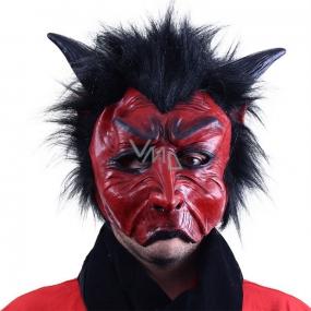 Maska čert s vlasy