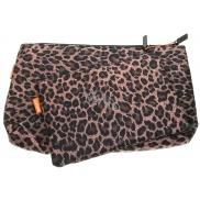 Diva & Nice Kosmetická kabelka leopardí vzor malá 19 x 14 cm, velká 29 x 19 cm, sada 2 kusů 90121